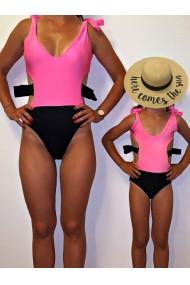 Costume de baie mama fiica intregi cu fundite BOW Edition in 2 culori