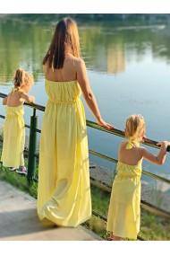 Rochii mama fiica lungi in A Yellow Dream galbene