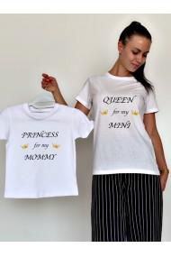 Tricouri Mama Fiica Queen / Princess for my Mini / Mommy