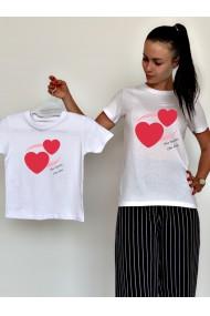 Tricouri mama fiica Two Hearts One Love