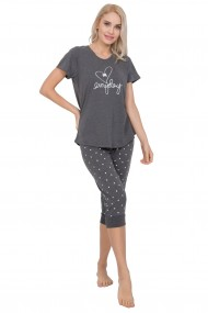 Compleu de dama, tricou cu maneca scurta si pantalon 3/4 ''Everyday''