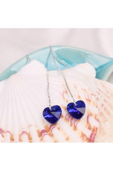 Cercei Heart Charm albastru