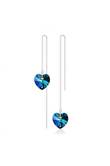 Cercei Heart Charm aquamarine