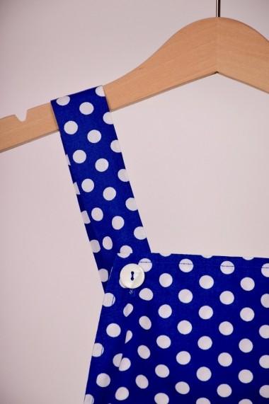 Salopeta Sipet de sidef cu buline mari 10183 albastru