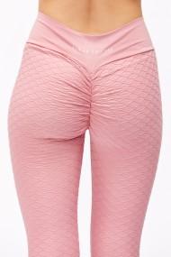 Colanti roz pudra cu talie inalta si push up Sugar Couture
