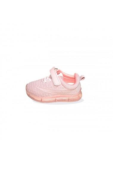 Pantofi sport A LED roz
