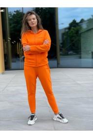 Hanorac Soy Bella zip din bumbac portocaliu
