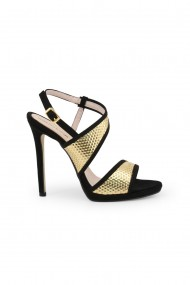 Sandale cu toc Arnaldo Toscani Nero Gold
