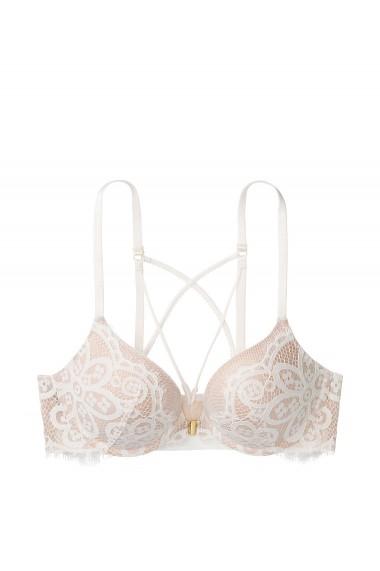 Sutien Victoria`s Secret Front Close Push Up Bra Coconut White