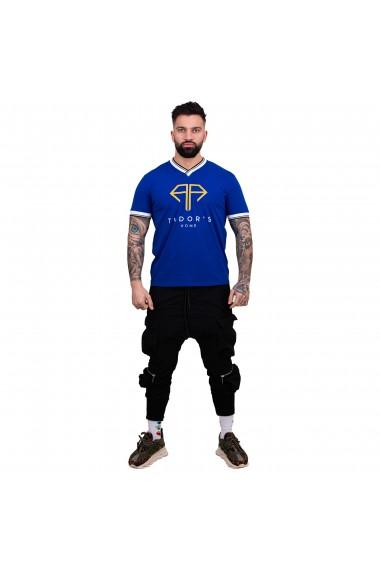 Tricou Guler V TUDOR`SHOME Albastru
