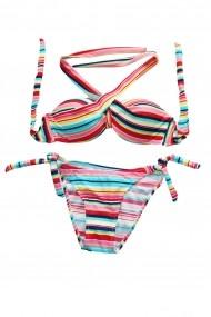 Costum de baie Tinka 2 piese dungi multicolor