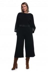 Compleu Tinka bluza si pantaloni culottes negru