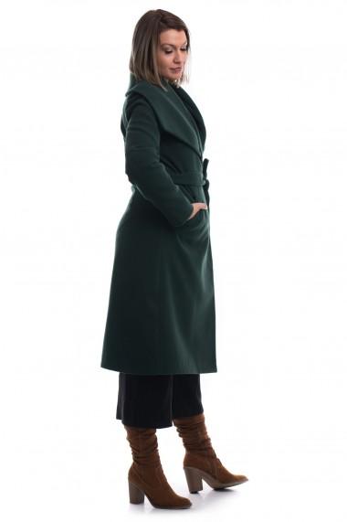 Palton Tinka cu guler rever verde