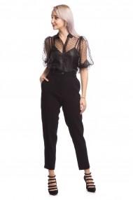 Pantaloni clasici Tinka talie inalta negri