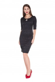 Rochie de zi cu imprimeu neagra