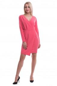 Rochie de zi scurta Tinka model colt roz