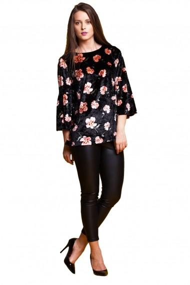 Bluza din catifea Tinka print floral