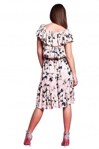Rochie de zi midi Tinka elastica print floral