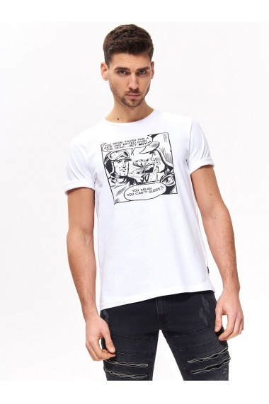 Tricou Top Secret TOP-SPO4030BI Alb