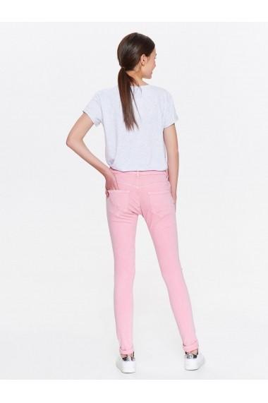 Pantaloni drepti Troll TOP-TSP1383JR Roz