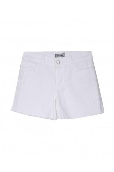 Pantaloni scurti Troll TOP-TSZ0183BI Alb - els
