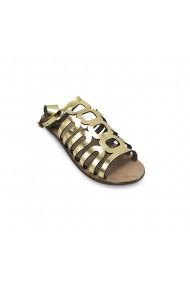 Sandale plate piele naturala Torino cod 162 auriu