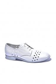 Pantofi piele naturala Torino cod 18362 alb sidef