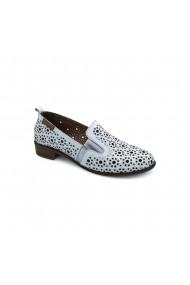 Pantofi piele naturala Torino cod 210 alb