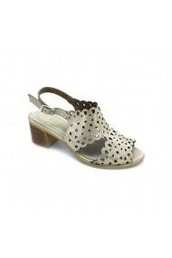 Sandale cu toc piele naturala Torino cod 60 auriu