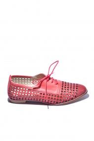 Pantofi piele naturala Torino cod 649 rosu