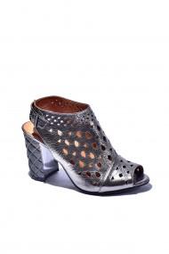 Sandale piele naturala Torino, cod 672 argintiu