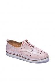 Pantofi piele naturala Torino cod 7020 roz sidef