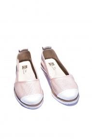Balerini piele naturala Torino cod 8015 roz sidef