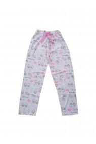 Pijama lungi de pijama Toski roz cu imprimeu avocado