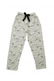 Pijama lungi de pijama Toski imprimeu masca Verde