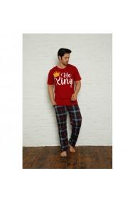 Pijama barbati maneca scurta si pantaloni lungi imprimeu He King