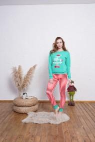 Pijama Christmas, turcoaz, Stop Effing Around