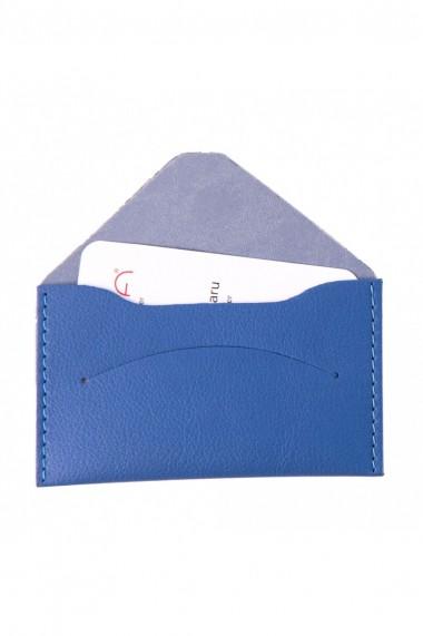 Etui carti de vizita si carduri e-store MK piele ecologica bleu