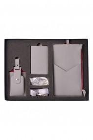 KIT calatorie 4000 e-store portofel calatorie + tag bagaje + baterie externa telefon gri
