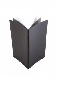 Notes Pastel 125x20 cm hartie alba velin Negru