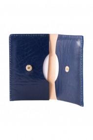 Portcard e-store piele naturala albastru