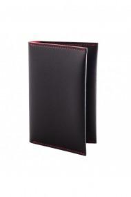 Portpasaport e-store piele ecologica negru