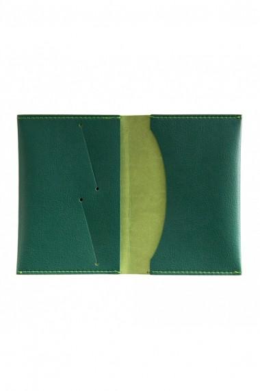 Portpasaport e-store piele ecologica verde