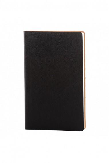 Set Flexi notes 12.5 x 20.5 cm hartie alba liniatura negru + pix