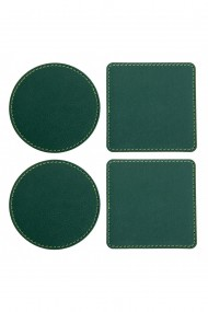 Set suport pahare e-store cusut perimetral verde