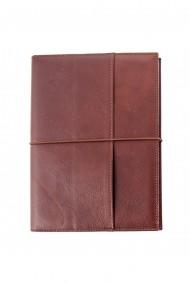 Agenda piele naturala, datata 2021, Pocket, cu interior detasabil, lucrata manual, UNIKA, cognac