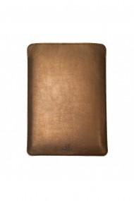 Husa laptop, MacBook 15 inch, UNIKA, piele PU cu lana din fibre naturale, aramiu