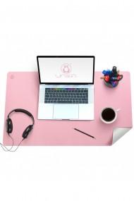 Mapa birou Flexi din piele, cu doua fete, pentru protectie birou, Unika, roz/ gri
