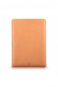 Husa laptop, MacBook 13 inch, UNIKA, piele PU cu lana din fibre naturale, bej