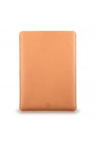 Husa laptop, MacBook 15 inch, UNIKA, piele PU cu lana din fibre naturale, bej